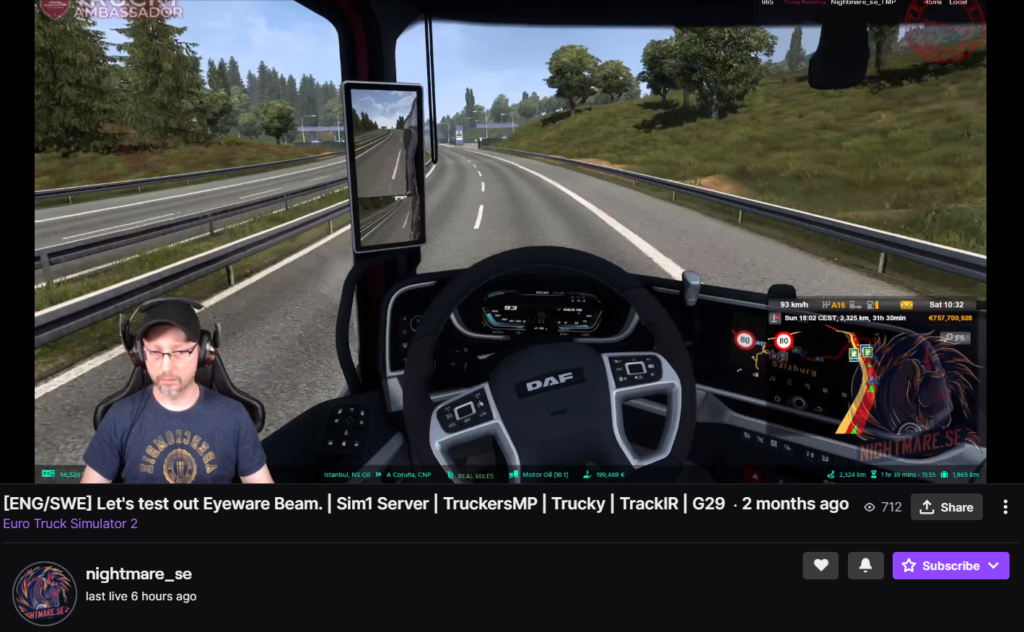 nighmare_se Twitch streaming ETS2